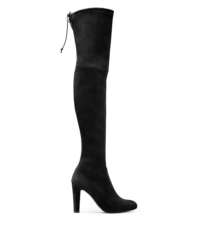 STUART WEITZMAN WOMEN'S HILANDSUEDEBLACK BLACK SUEDE BOOTS