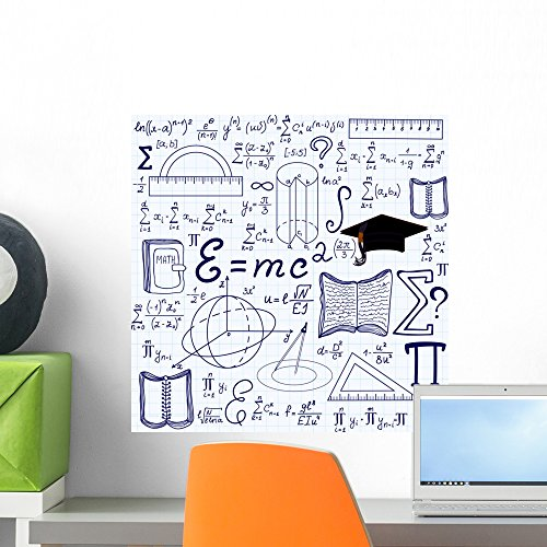 Wallmonkeys FOT-84276345-18 WM330701 Math Vector Seamless with Geometrical Figures Peel and Stick Wall Decals H x 18 in W, 18