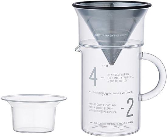 KINTO Café Filtre 4 cups en acier inoxydable