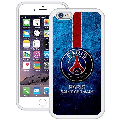 Paris Saint-Germain (PSG)   Handgefertigt   iPhone 6 6s (4,7')   Weiß TPU Hülle