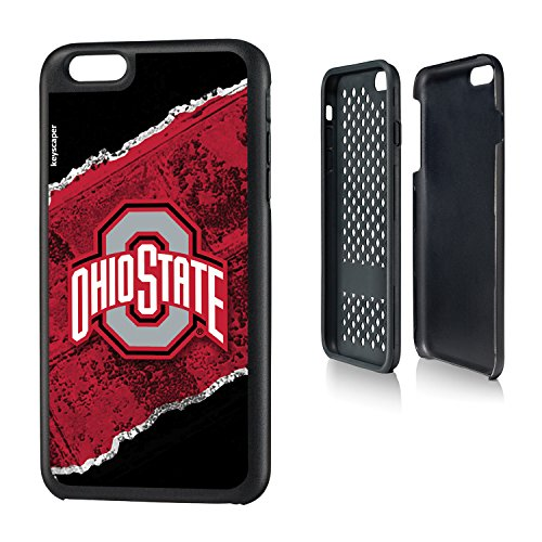 Ohio State Buckeyes iPhone 6 Plus & iPhone 6s Plus Rugged Case officially licensed by Ohio State University for the Apple iPhone 6 Plus by keyscaper® Durable Two Layer Protection Shock Absorbing
