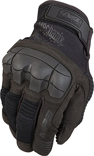 Mechanix M-Pact 3 Molded Knuckle Tactical Glove Handschuh mit Knöchelschutz Model 2016 (Schwarz, L)