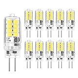 G4 LED Bulbs - 3W/20W G4 Halogen Bulbs AC DC 12V Equivalent, Cool White 6000K, G4 Energy Saving G4 Light Bulb, 10-Pack