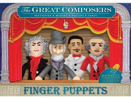 Beethoven Marionetas de dedo Grandes Compositores Puccini Mozart Finger Puppet Great Composers Verdi