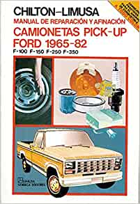 Manual De Reparacion Y Afinacion Camionetas Pick-up Ford 1965-1982