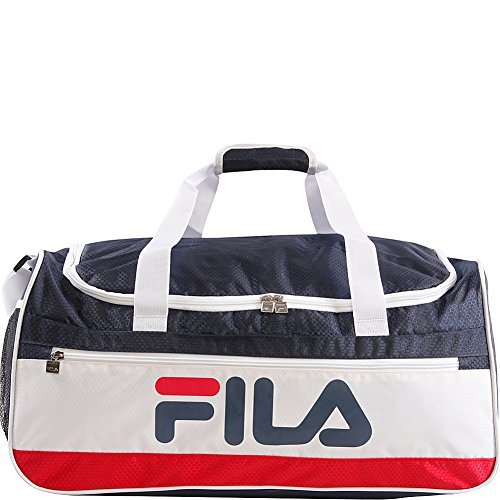 Fila Baywood Medium Sports Duffel Gym Bag, Navy/White, One Size