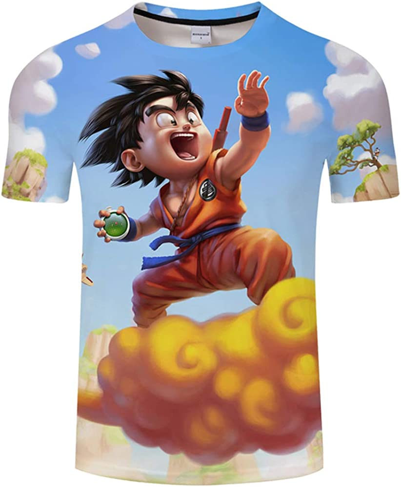 Lu/&lu Anime Dragon Ball Z T-Shirt Boys Girls Tee 3D Printed Short Sleeve Cosplay Pullover Tops S-6XL