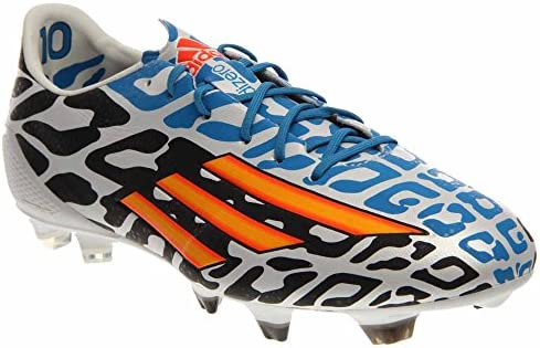1852dd998 Amazon.com  Adidas F50 Adizero-Messi Battle Pack TRX FG Soccer Cleats Shoe  - Core White Solar Gold Black - Mens - 11.5  Sports   Outdoors