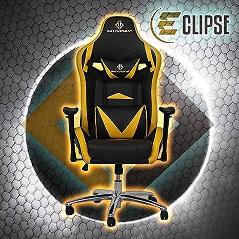 Silla Gamer Eclipse (Amarilla) Silla Gamer para jugar a Videojuegos Esports como Fifa,