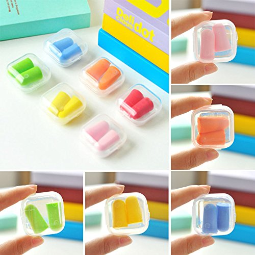 S&M TREADE-Beautiful Candy Colors Earplugs Soft Foam Plugs With Convenient Case 5 - To A Where Polaroid Buy
