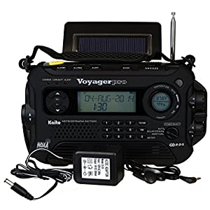 51gMe0nmAXL. SS300  - Kaito Voyager Pro KA600 Digital Solar Dynamo,Wind Up,Dynamo Cranking AM/FM/LW/SW & NOAA Weather Emergency Radio with Flashlight, Reading Lamp Alert,Smart Phone Charger & RDS and Real-Time Alert, with AC Adapter, Black