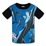 Kids Helicoprion Shark Casual T-Shirt Youth Short Sleeve