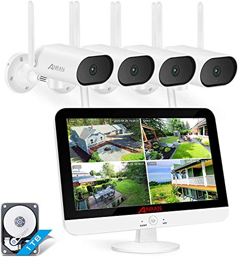 [8CH Expandable and Audio Recording] ANRAN All in One Wireless Security Camera System with 13