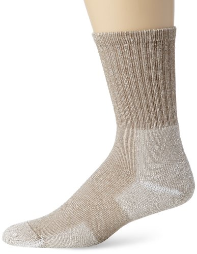 Thorlo Men's Ultra Lite Hiking Crew Sock, Cornstalk Brown, Large