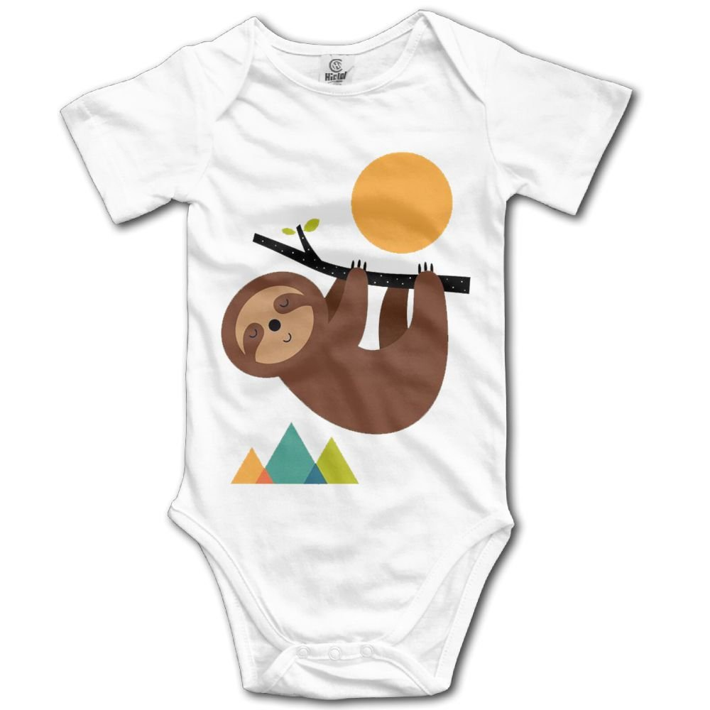 Rainbowhug Art Sloth Animals Unisex Baby Onesie Cartoon Newborn Clothes Funny Baby Outfits Comfortable Baby Clothes