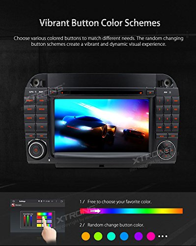 XTRONS Android 6.0 Octa-Core 64Bit 7 Inch Capacitive Touch Screen Car Stereo Radio DVD Player GPS CANbus Screen Mirroring Function OBD2 Tire Pressure Monitoring for Mercedes-Benz S-Class W220 by XTRONS (Image #6)