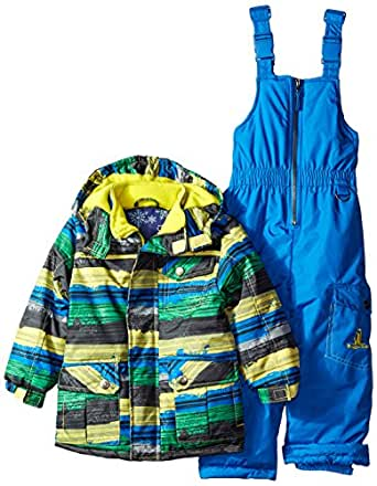 rugged bear little boys 39 snowsuit with riped. Black Bedroom Furniture Sets. Home Design Ideas