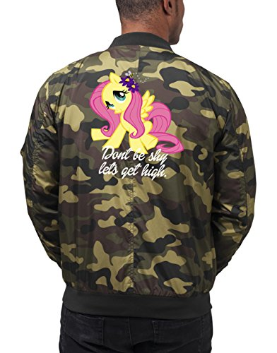 Don`t Be Shy Let`s Get High Pony Bomberjacke Camouflage Certified Freak