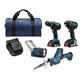 Bosch 18V Kit combo de dos herramientas inalámbricas de iones de litio