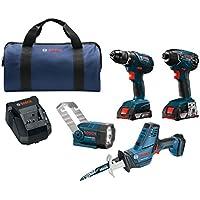 Bosch Compact Tough 4-Tool 18-volt Power Tool Combo Kit