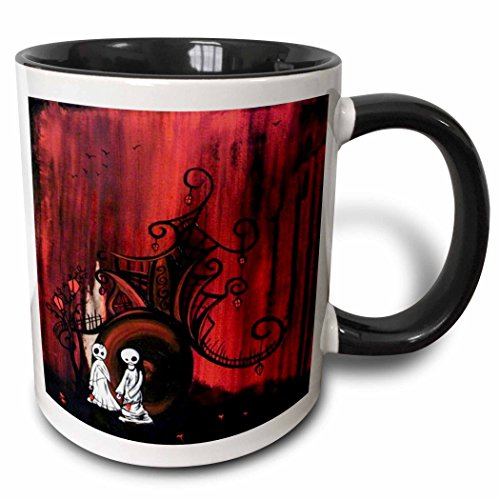 (3dRose Dooni Designs Halloween Designs - Till Death Do Us Part And Forever After Zombies Ghosts - 15oz Two-Tone Black Mug)