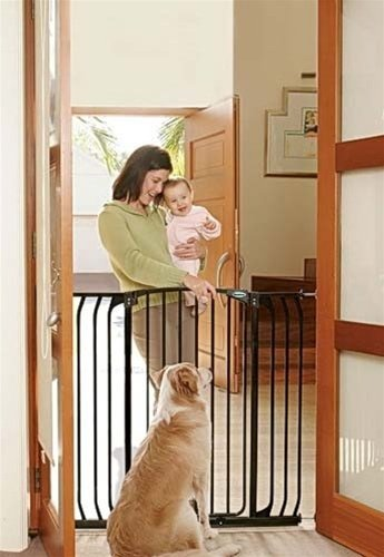 BINDABOO Hallway Security Gate Black Extra Tall - ( Height 40.5'' ) ()