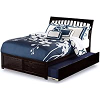 Orleans Flat Panel Foot Board with Urban Trundle Bed, Full, Espresso