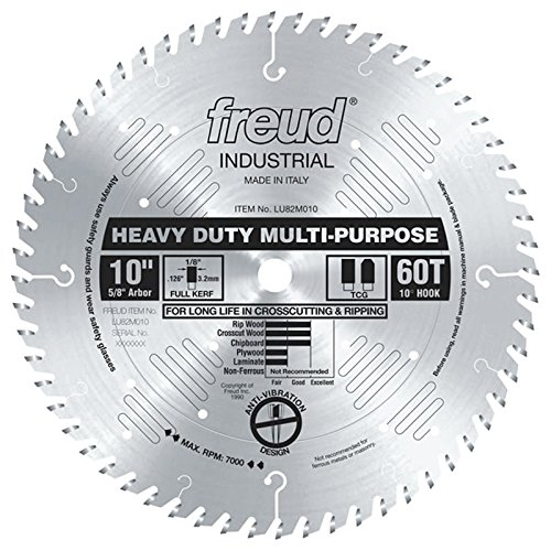 Freud LU82M010 10-Inch 60 Tooth TCG Crosscutting and Ripping Saw Blade with 5/8-Inch Arbor - Design Chipboard Picture Frame