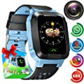 Smart Watch Kids GPS Tracker Watch - Kids Smartwatch Phone for Boys Girls 1.55'' Touch Screen SOS Anti-Lost Activity Sport Wearable Digital Watch with Game Camera 2019 New Year Christmas Gifts