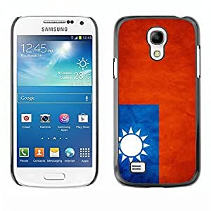 Shell-Star ( National Flag Series-Taiwan ) Snap On Hard Protective Case For Samsung Galaxy S4 MINI / i9190 / i9192