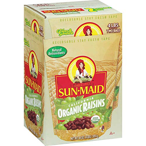 Sun-Maid Organic California Sun-Dried Raisins – 2 Pack (4 lbs)
