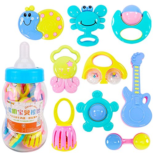 Creative Put Together Halloween Costumes (Kanzd Baby Rattles Teether Ball Shaker Grab And Spin Rattle Musical Toy Gift (9 PCS))