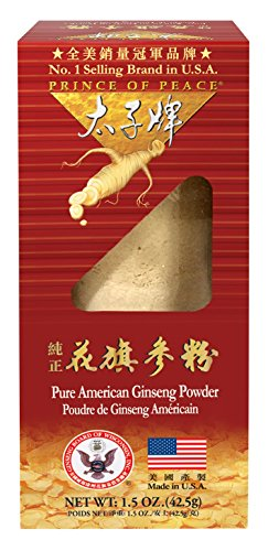 - Prince of Peace 100% Wisconsin American Ginseng Powder (Panax Quinquefolium), Gift Box 1.5oz