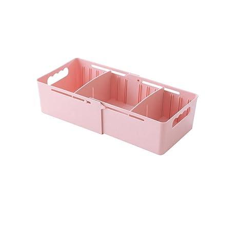 Fdit Caja de Almacenaje de Extensión Organizador de Almacenaje Caja de Almacenamiento Ajustable Multifuncional para Calcetines