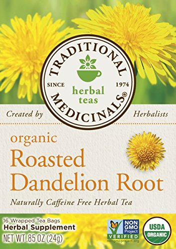 032917001658 - Traditional Medicinals Organic Roasted Dandelion Root Tea, 16 Tea Bags (Pack of 6) carousel main 1