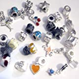 Alloy Metal beads fit Pandora style charm bracelets - A3901 - 25 beads Mixed