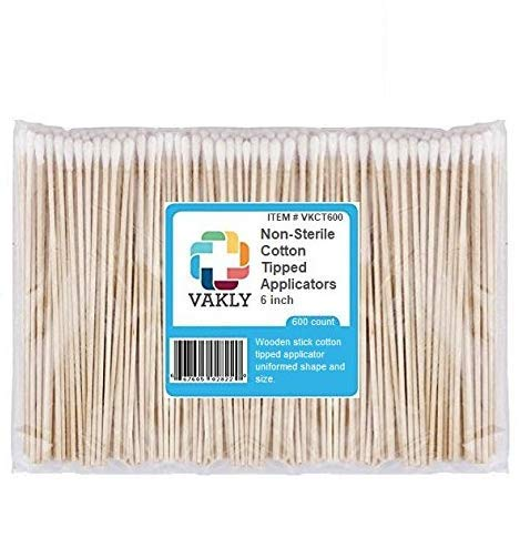 Applicators Non Sterile - Vakly Non-Sterile 6'' Cotton Tipped Applicators (600 Pack)