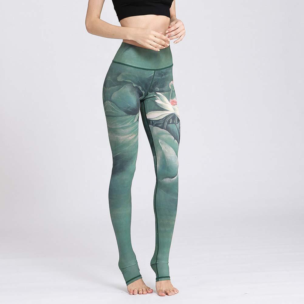 YUYOGAP Frauen Leggings Yoga Hosen Fitness Trainning Übung Lange Hosen Lange Druck schnell trocknend Stretch Fitness Outdoor Sport Wear