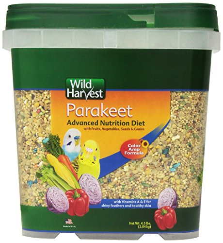 Wild Harvest Wh-83540 Wild Harvest Advanced Nutrition Diet For Nutrition Diet For Parakeets, 4.5-Pound ()