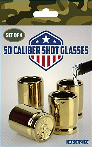 Barbuzzo 50 Caliber Shot Glass - Set of 4 Shot Glasses Shaped like Bullet Casings - Step up to the Bar, Line 'Em Up, and Take Your Best Shot - Great Addition to the Mancave - Each Shot Holds 2-Ounces by Barbuzzo (Image #15)
