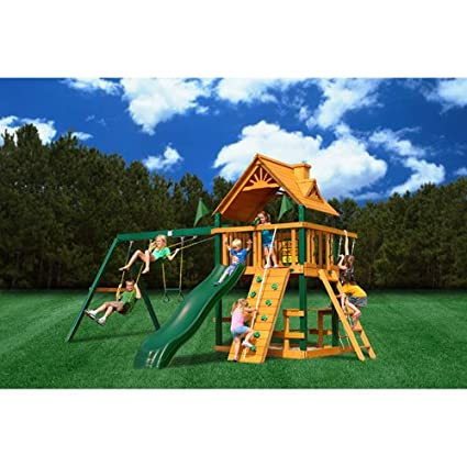 This quality play set will last your family for years to come thanks to its  durable factory-stained and -sealed cedar construction, which makes it  resistant ... - The Top 50 Safest Backyard Swing Sets Safety.com