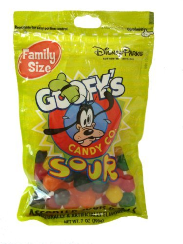 Disney World Parks Goofy Candy Co. Assorted Flavor Sour Balls Family Size 7 oz ()