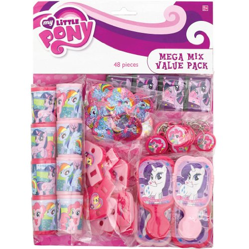 amscan My Little Pony 'Friendship is Magic' 48pc Favor Kit (1ct) -