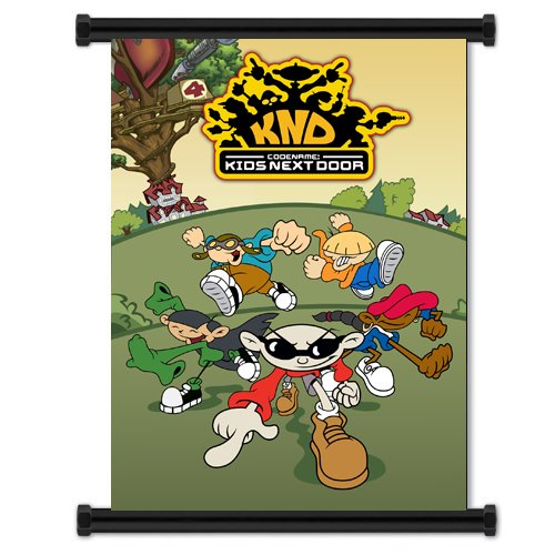 Cartoon Door - Codename Kids Next Door Cartoon Fabric Wall Scroll Poster (16