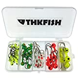 44pcs Lot Fishing Jig 2g 4g 6g 8g 10g Head Hook Fishing Hook Set with Plastic Fishing Box