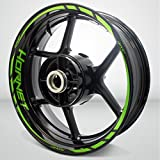 Honda Hornet Gloss Light Green Motorcycle Rim Wheel Decal Accessory Sticker