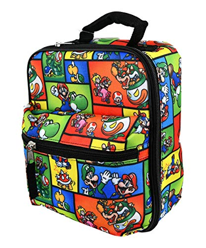 Super Mario Insulated Lunch Bag … (Mario with Front Pocket)
