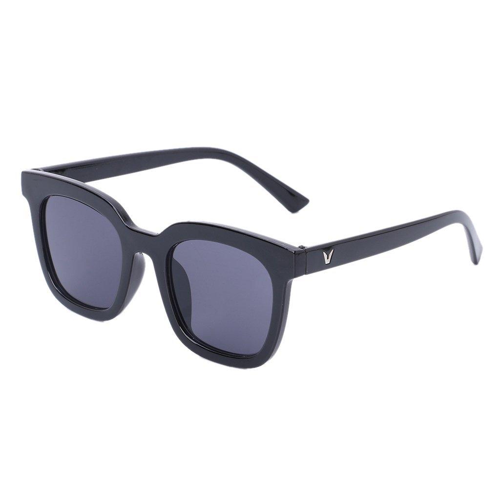 Hukai UV400 Chic Oversize Ocean Lens Sunglasses Fashion Eyewear Retro