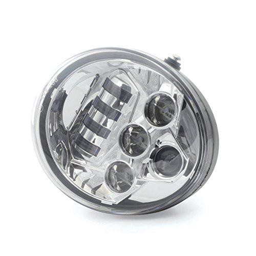 (Chrome LED Protector Headlight Fit for Harley Davidson V-Rod VRod VRSCA VRSCF)