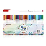 Sunacme 36 Color Fineliner Pens Set, 0.38 mm Ultra Fine Point Markers, Fine Line Drawing Pen Perfect for Adults Coloring Books and Bullet Journal Art Projects